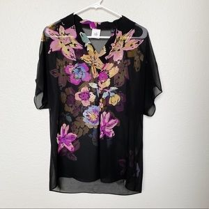 Cabi Limited Edition Bouquets Blouse Small